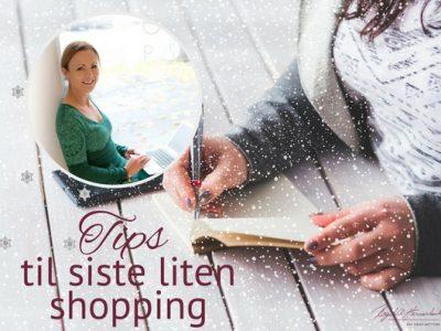 Siste liten shopping lokalt eller på nett
